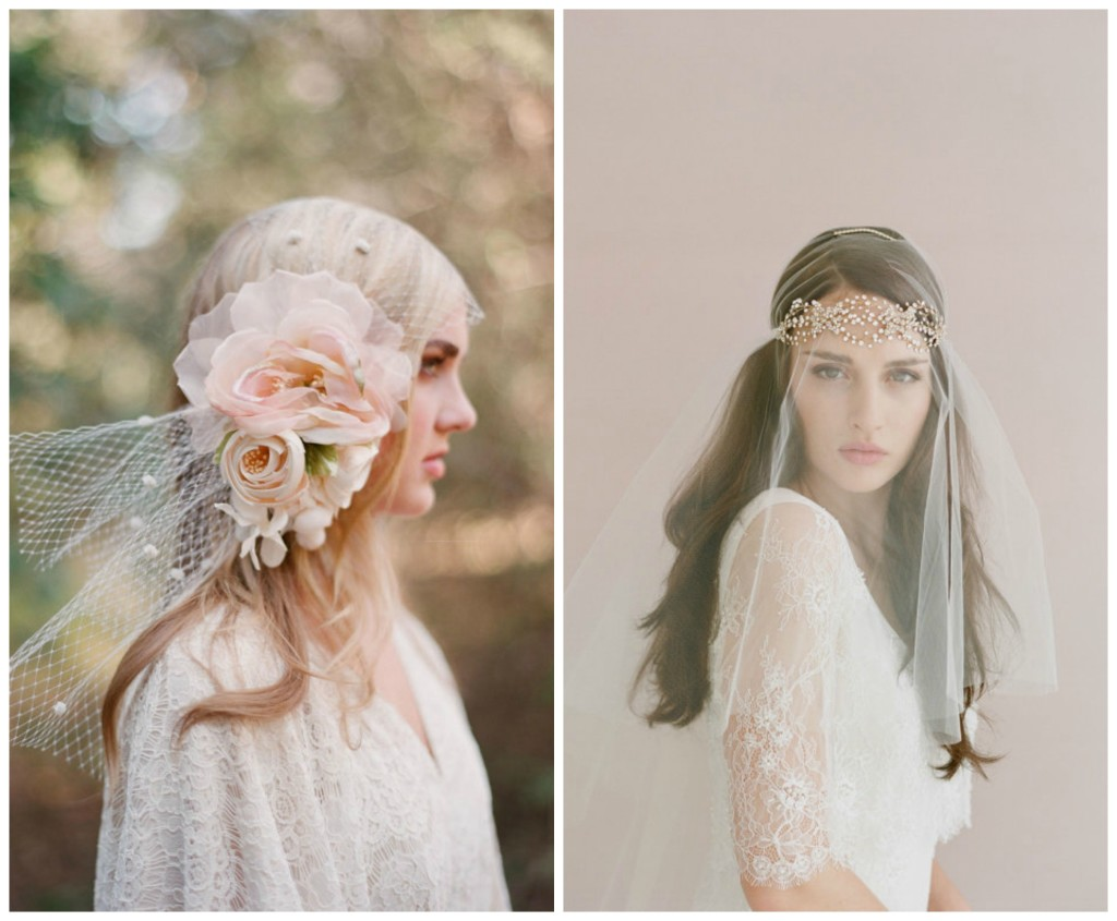 Two of the beautiful headpieces from the etsy shop, Twigs & Honey