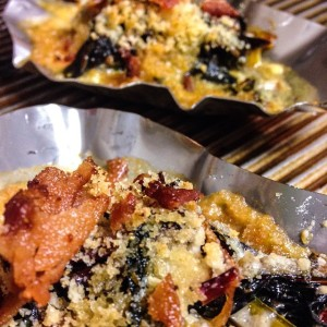 Baked Oysters with Chorizo and Fennel