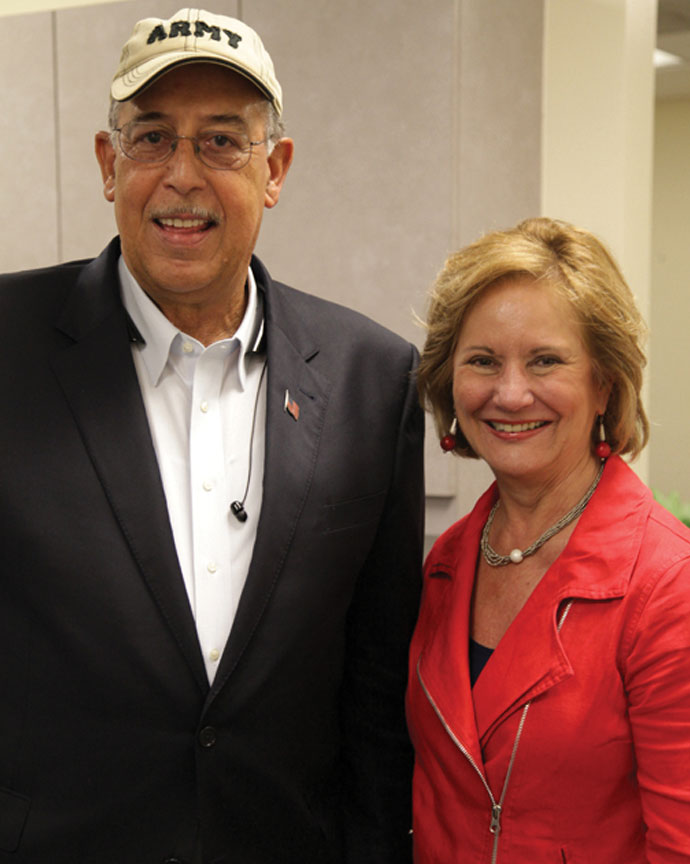 Lt. General Russel L. Honoré, US Army (Ret.), pictured with Parish President Pat Brister, was a special guest at the Louisiana Veterans Festival. The event, held at the Northshore Harbor Center, was part of Memorial Day celebrations throughout the area.