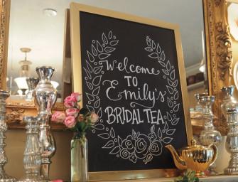 Planning a Bridal Tea?